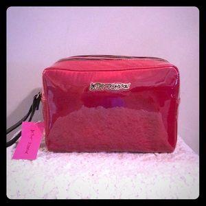 Betsey Johnson double zip cosmetic bag